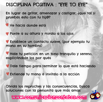 Disciplina positiva Eye to Eye