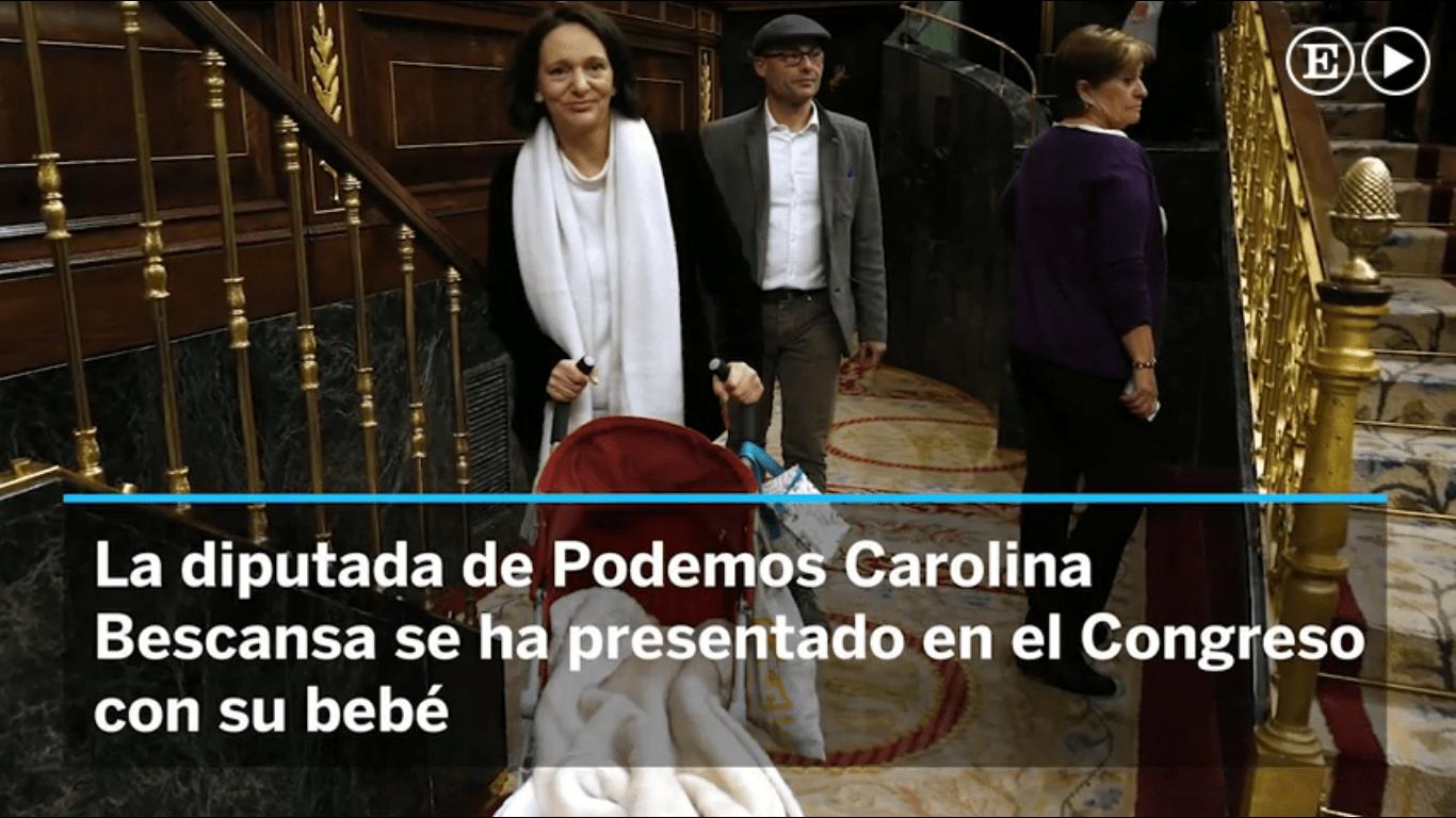 Carolina Bescansa bebé congreso
