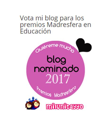 ¡Estoy nominada a los premios Madresfera!