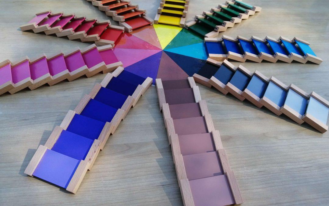 Caja de Color número 3 Montessori