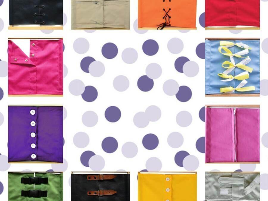 Los marcos de vestir o bastidores Montessori, un precioso material que presentar a nuestros peques