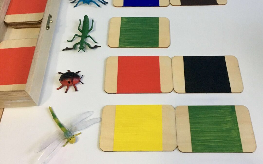 Material Montessori DIY: Cajas de color 1 y 2