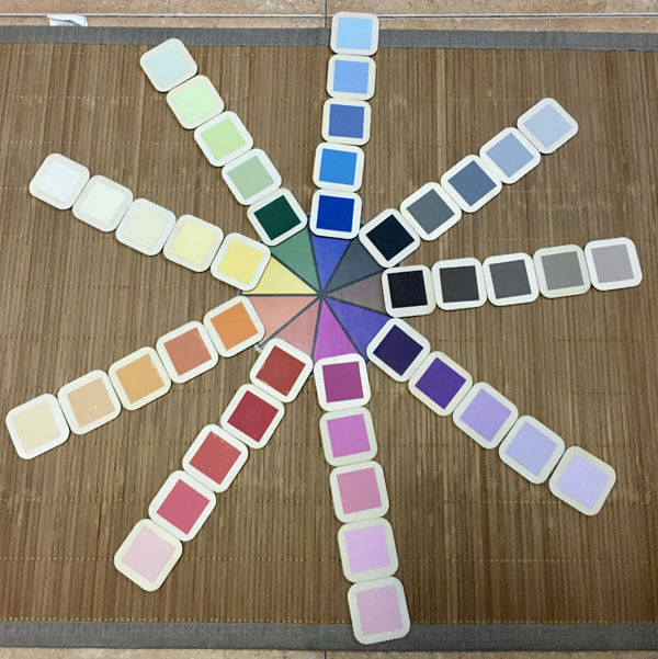Haz tú mismo tu material Montessori: Caja de color número 3 DIY