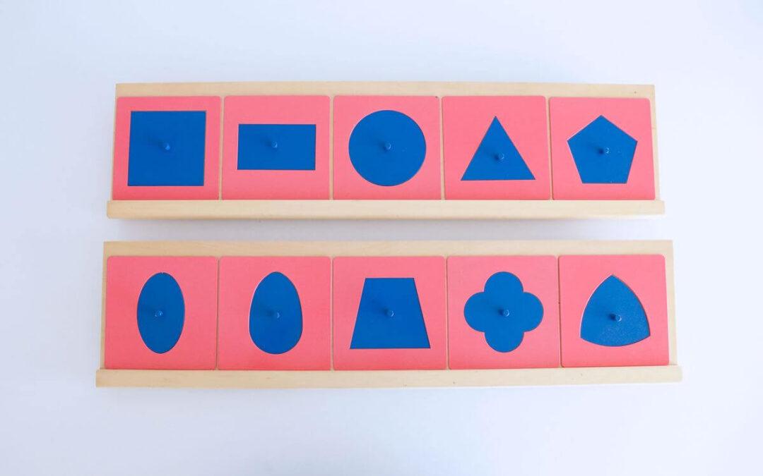 Los resaques metálicos Montessori, un material que nos prepara para la escritura