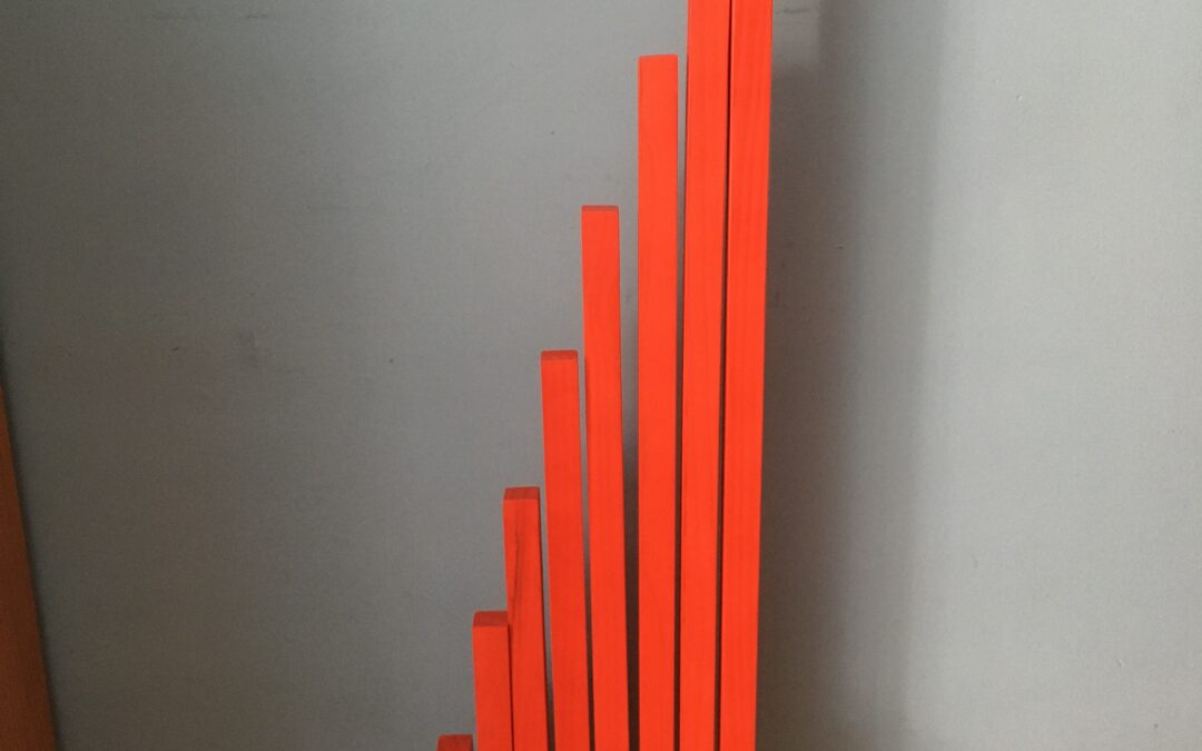Barras Rojas Montessori con soporte hechas a mano