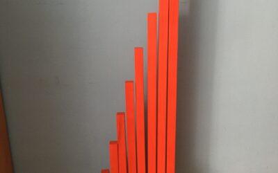 Barras rojas Montessori al estilo DIY