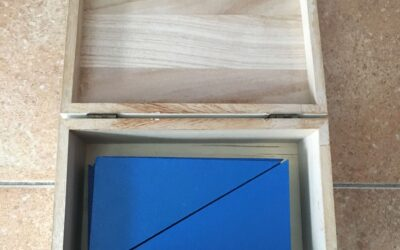 Materiales Montessori hechos a mano: Triángulos azules