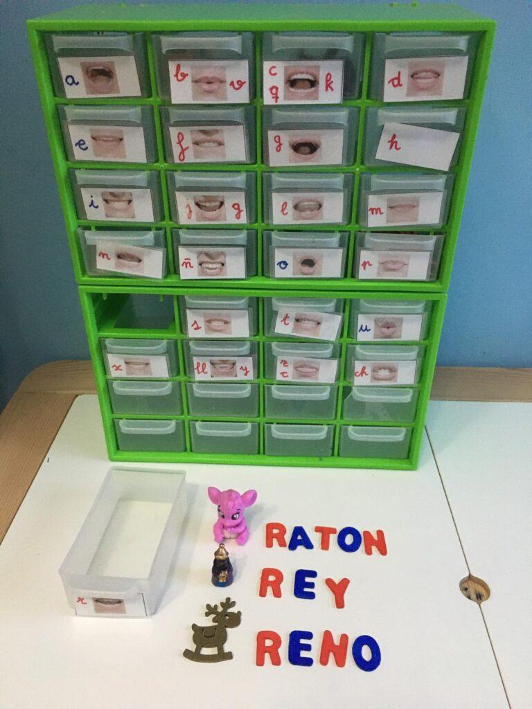 Caja de Sonidos Montessori para ordenar las letras