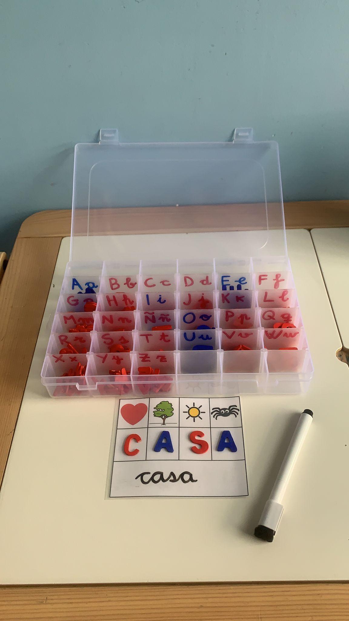 Propuesta para utilizar el alfabeto móvil Montessori con los niños.