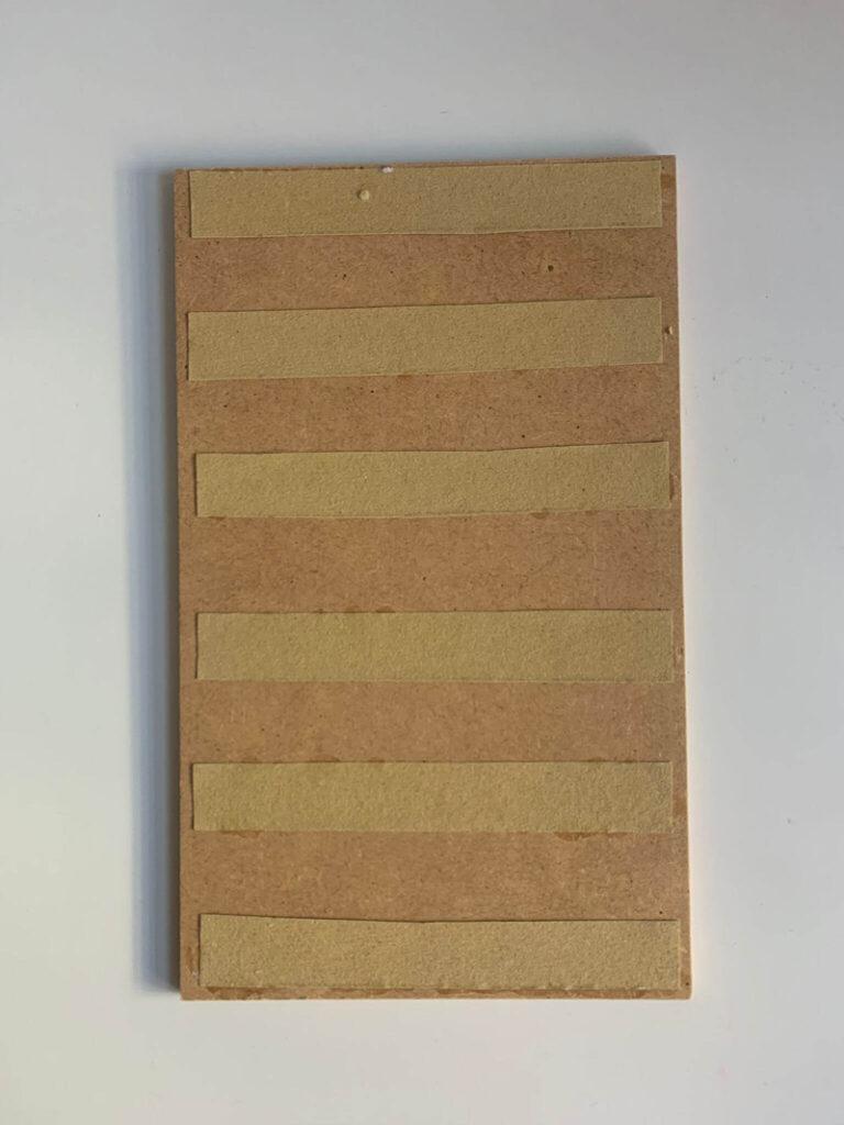 Tablero Montessori - Listas de lija - Material área sensorial