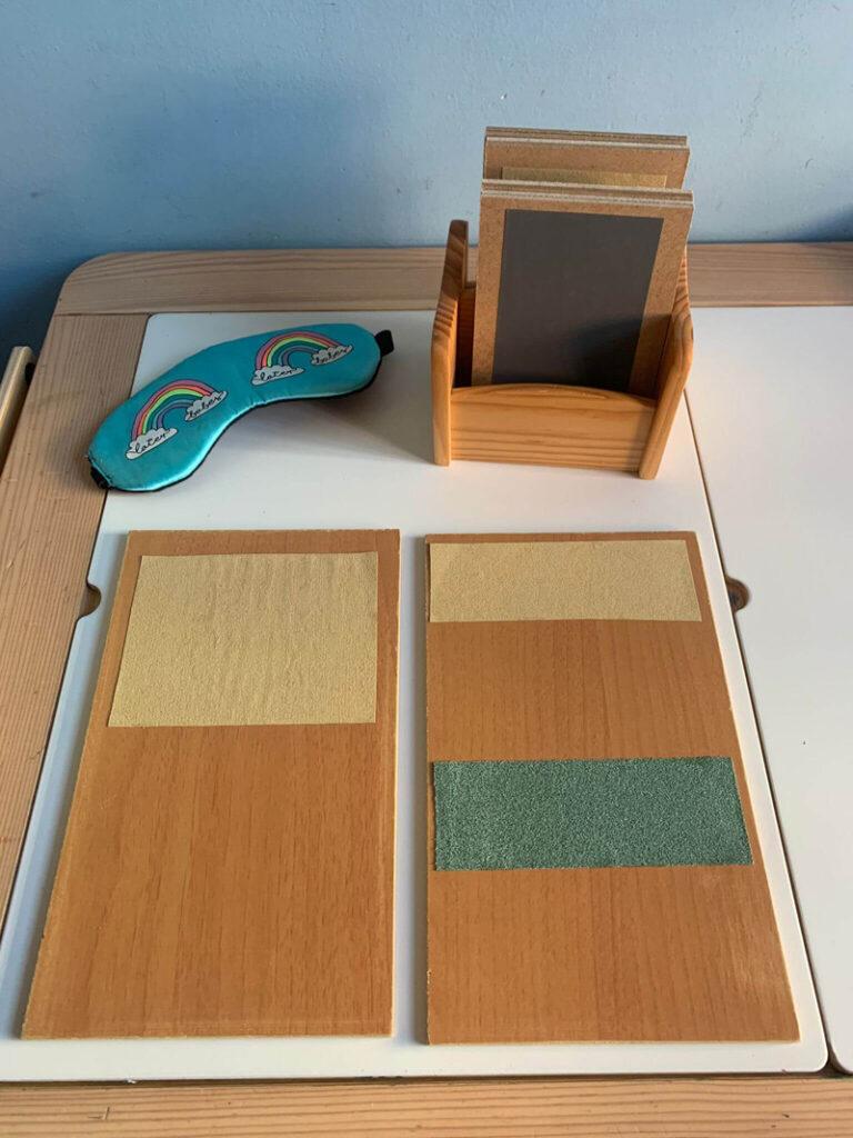 Tableros Montessori Área Sensorial Hechos a mano